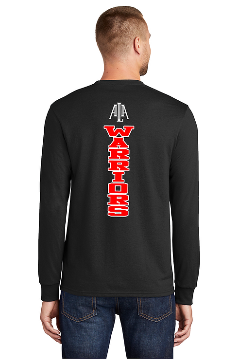 WARRIORS SPINE Long Sleeve Basic  T-shirt (Adult) (PC55LS_14)