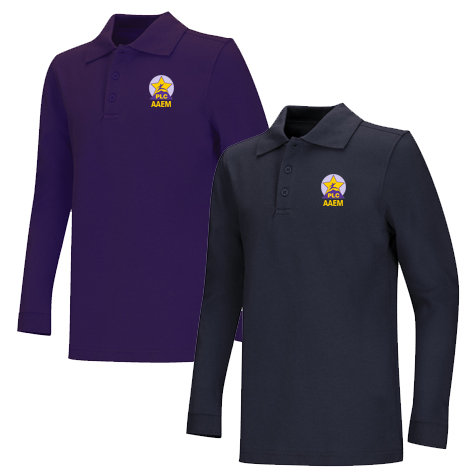 AAEM Youth Pique Long Sleeve 60/40 Polo K-5