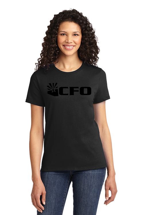CFO SHADE ABBREVIATED LOGO TSHIRT (LADIES) (DT5001)