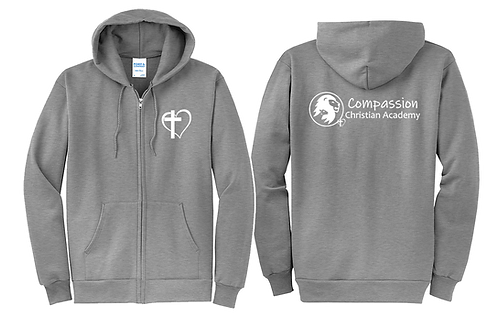 COMPASSION Zippered Hoodie - 2 colors (PC78ZH)