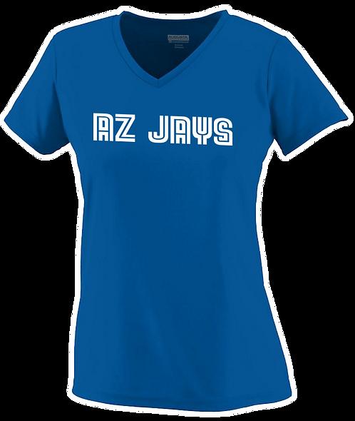 AZ JAYS - Ladies Dri fit V-Neck T-shirt (1790-12)