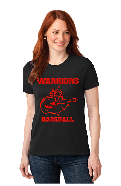 WARRIORS BASEBALL Basic Ladies Cut T-shirt (LPC55_10)
