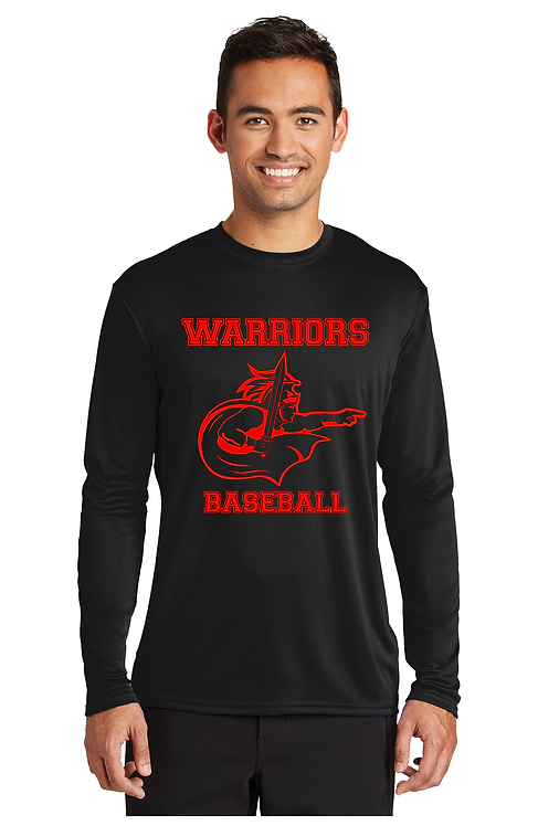 WARRIORS BASEBALL Long Sleeve Dri-Fit T-shirt (Adult) (PC380_14)