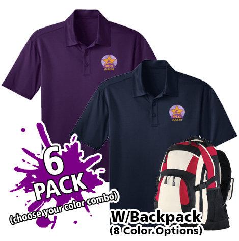 AAEM Dri Fit Polo *6 PACK w/Backpack*  K-5