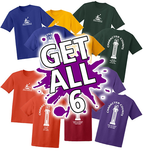 AAEM 50/50 Character Counts T-shirts *ALL 6 COLORS*