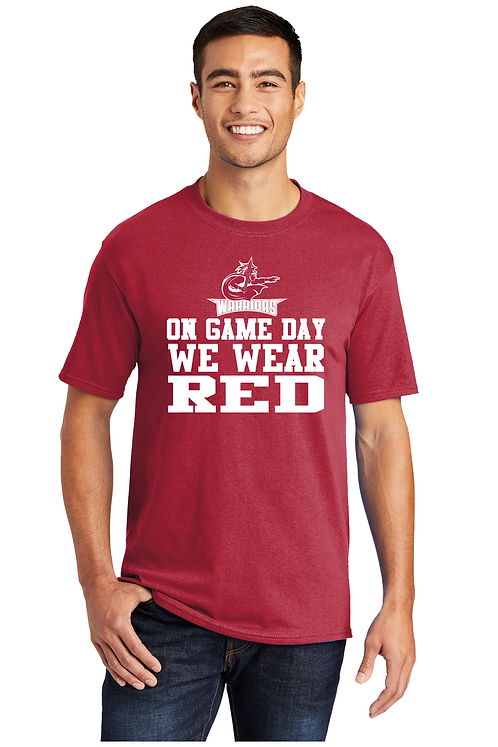 WARRIORS WEAR RED Basic T-shirt (Youth and Adult) (PC55_10)