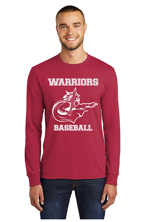 WARRIORS BASEBALL Long Sleeve Basic  T-shirt (Adult) (PC55LS_12)