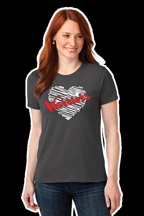 WARRIORS HEART Basic Ladies Cut T-shirt (LPC55_10)