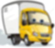 Camion de livraison de votre location achat de vélos