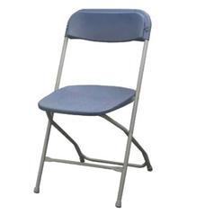 Slate Blue Folding Chair