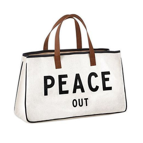 Canvas Tote - Peace Out