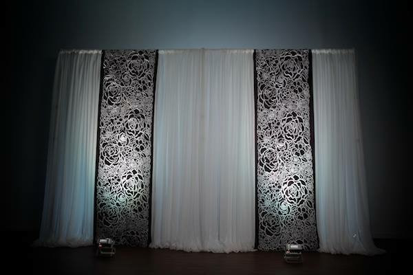 Backdrop with Floral and Black Panels.JP