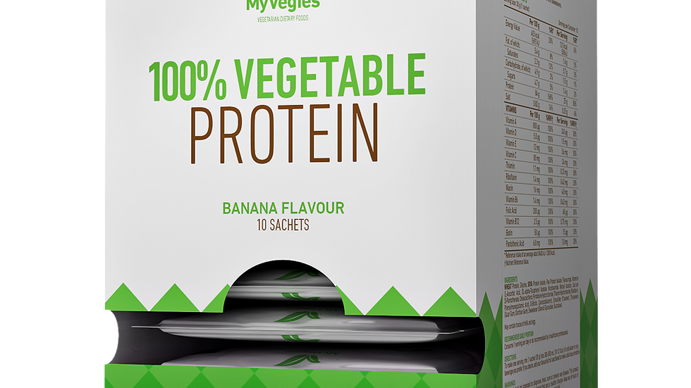 10 x 100% Vegetable Protein  30 g