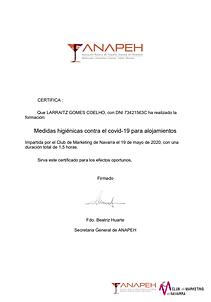 Certificado de formación Larraitz
