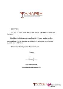 Certificado de formación Ana