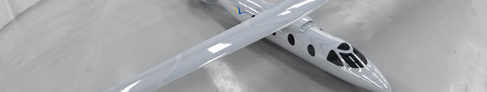 Realistic render of Tailwind™ aircraft in hangar