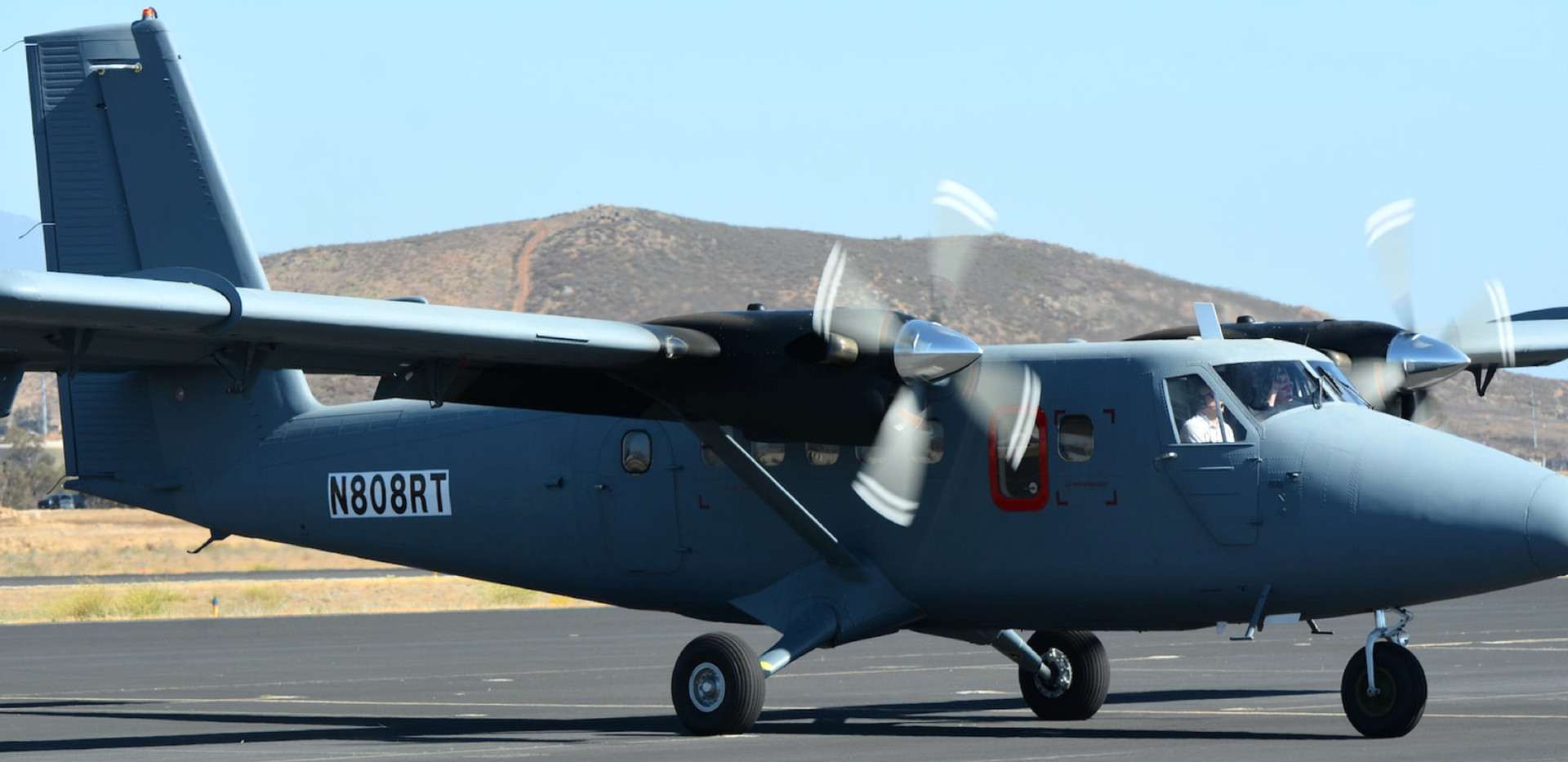 Twin Otter aircraft on tarmac