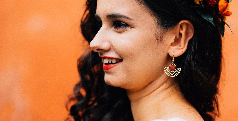Boucles d'oreilles Maya de la collection Terra