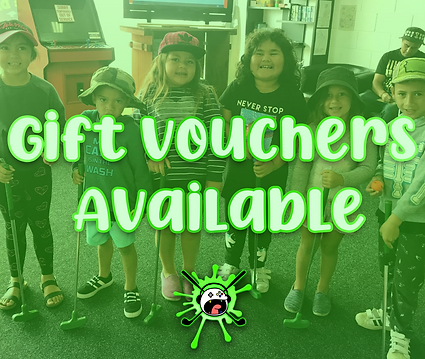 kids playing mini golf, gift voucher