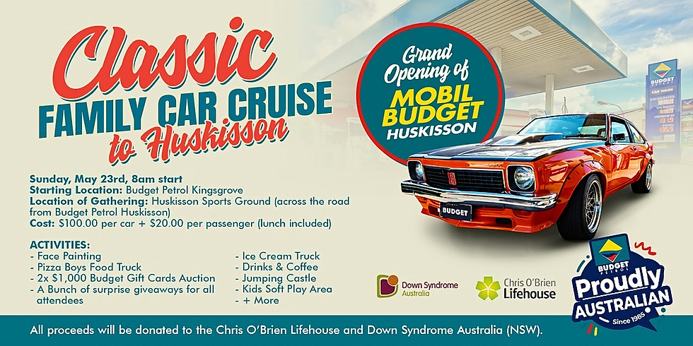 Classic Family Car Cruise to Huskisson