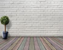 Brick wall install and painting