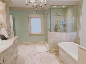 Re-grouting bathroom tiles and full repaint