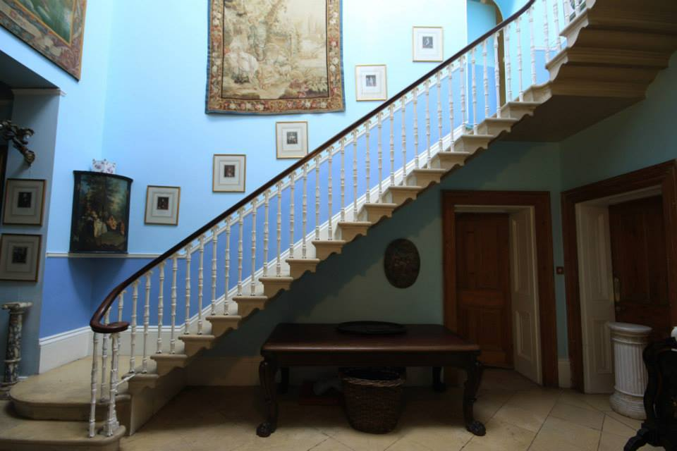 Stone staircase into hall