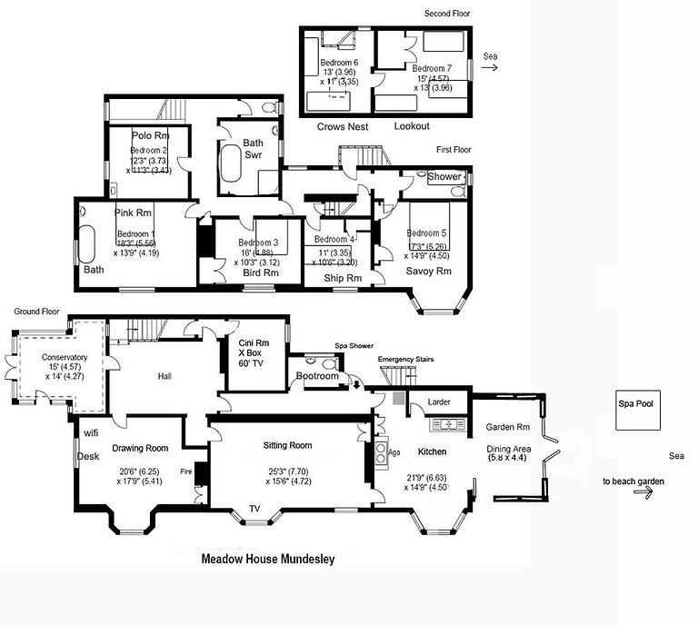 Meadow House Mundesley House Plan view