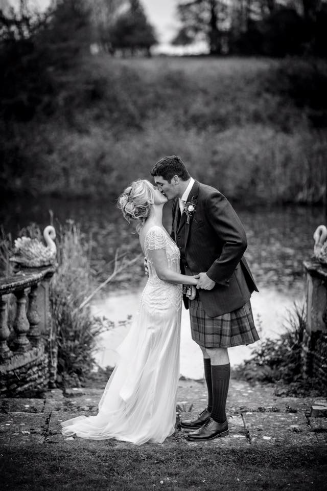 Purton House bride and groom