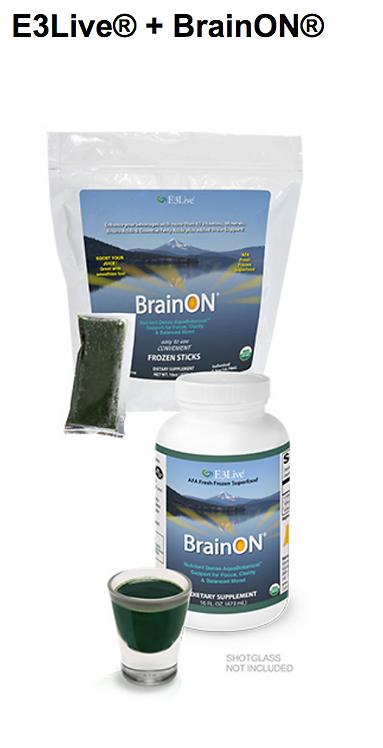 E3Live BrainOn® (BOTTLE) 6 Pack 32 capsules per bottle.