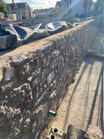 Suffolk House - Stone Retaining Wall