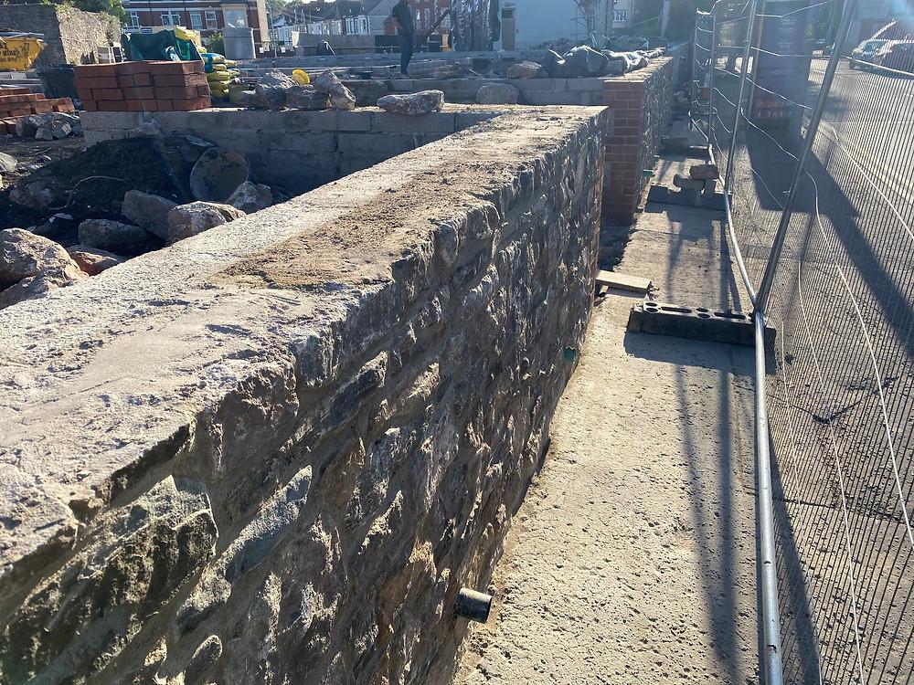 Suffolk House Stone Retaining Wall