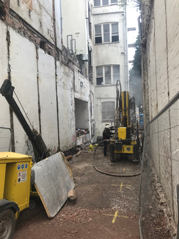 Piling Works Commence - The Bank