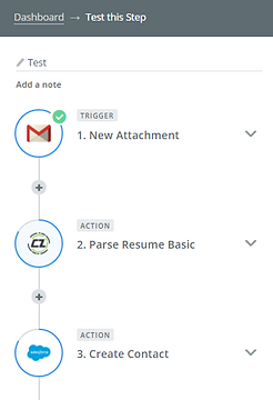 each time you receive or upload resume into your source account parsed data would automatically be sent and updated into your salesforce
