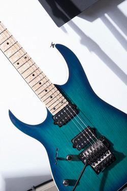 Beautiful Teal Guitar