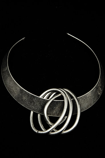 TigerBite FW 18-19 steel choker necklace with metal details