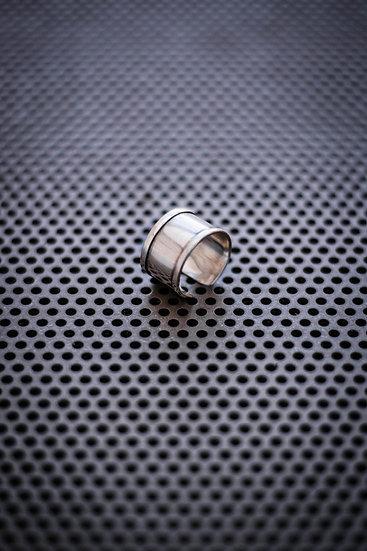 TigerBite. adjustable brass silver color ring