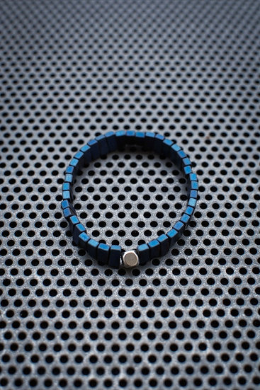TigerBite. Blue Hematites Bead Bracelet