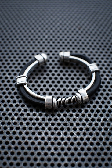 Leather and Screw Bracelet