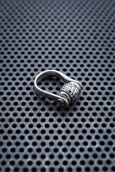 TigerBite Stainless Steel ring with metal bead