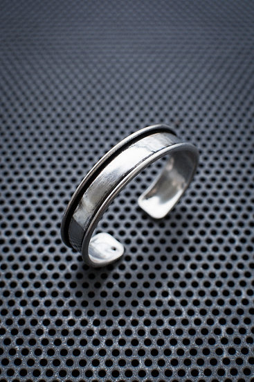 Thick Bangle Bracelet from silver plated brass