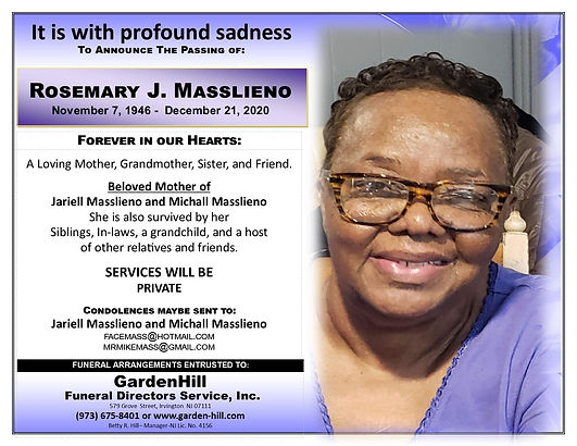Rosemary J Masslieno