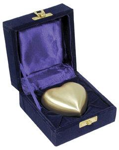 Brass Heart Shaped Keepsake w Box