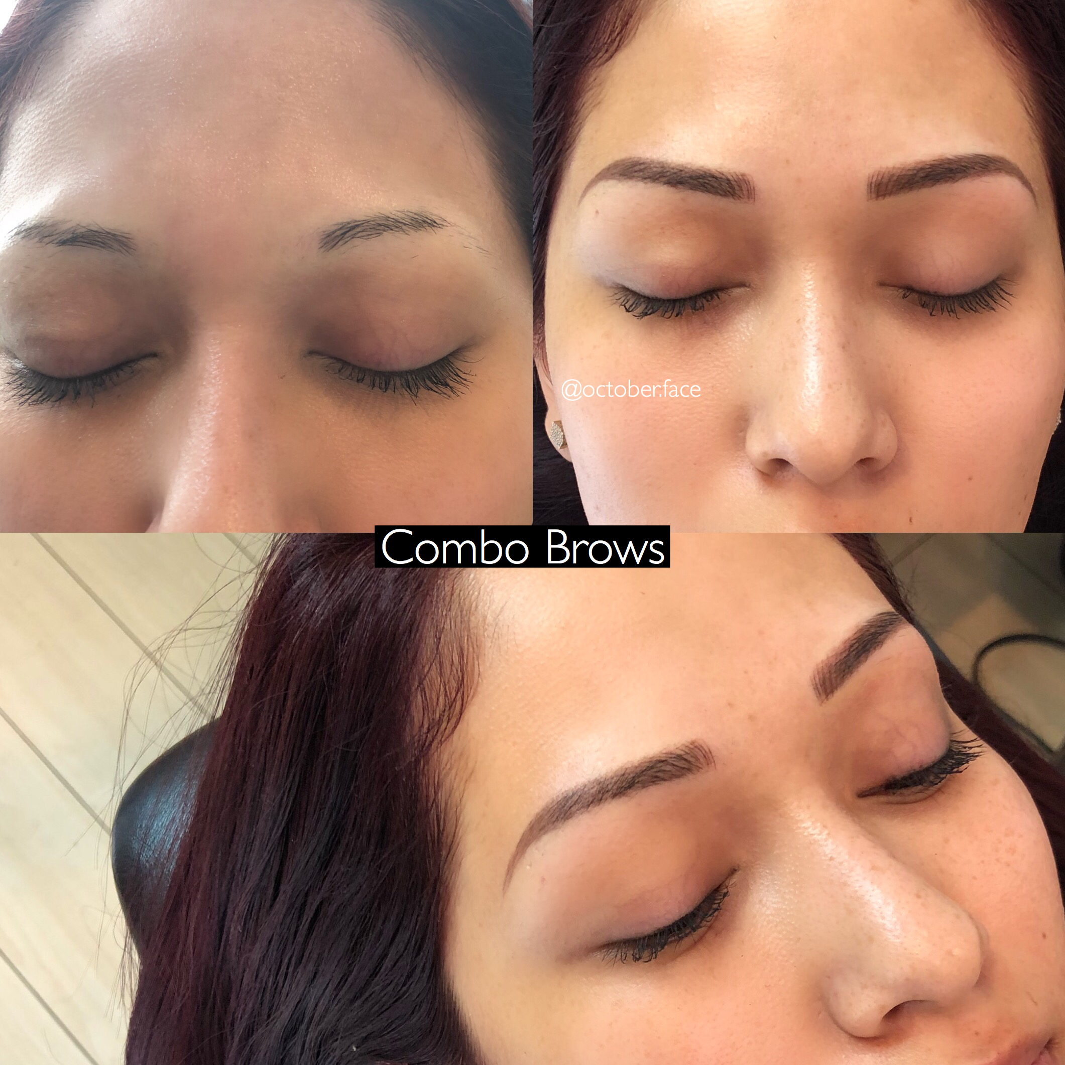 Combo Microblading and Shading