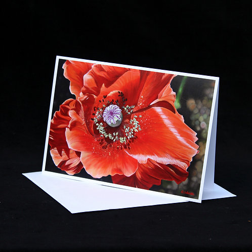 Note Card - Spirit of the Wild Poppy
