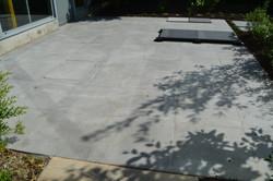 terras in keramische tegel