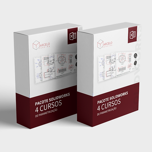 Cursos Parametrização - 04 Cursos SolidWorks + Excel