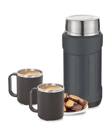 Basik Rocket Stainless Steel Coffee Set, Black