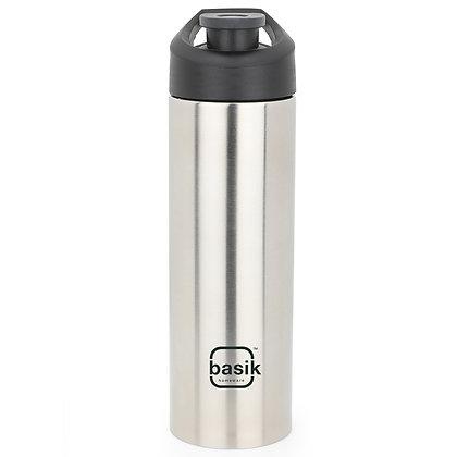 Basik Eureka 750 Stainless Steel Water Bottle, Silver