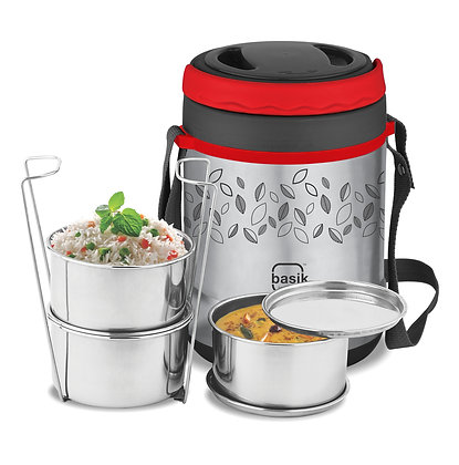Basik Premier Stainless Steel Insulated Lunch Box